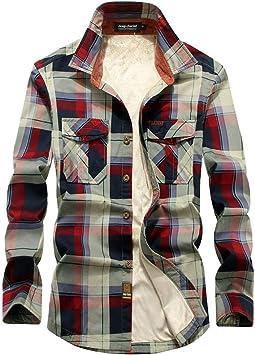 ACZZ Camisa cálida de invierno para hombre, leñador acolchado para hombre Camisa casual de manga larga a cuadros de franela a cuadros con forro de botón Camisa cálida Sherp,Redplaid,**L: Amazon.es: Bricolaje y