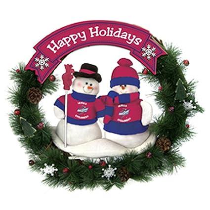 ncaa snowman christmas wreath ncaa team iowa state