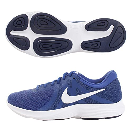 83b61f3b Nike Men's Rovolution 4 Indigo Force/White-Blue Void Running Shoes (10 UK