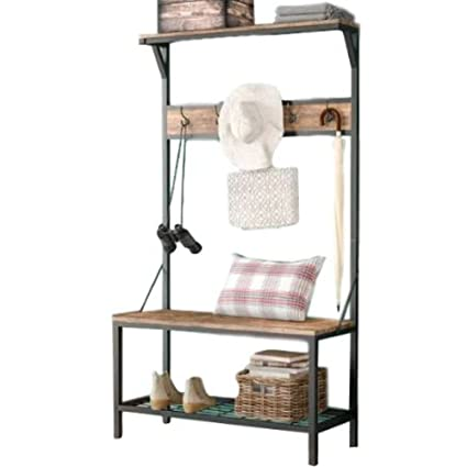 Coat And Shoe Rack Entryway With Bench Mid Century Hall Tree Stand Storage  Corner Entryway Rustic