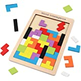 lifepower 木製パズル カラフル40ピース 図形作りや型はめに挑戦 ロシアンブロック 温かみある木のおもちゃ タングラム 発想力 思考判断力 図形認識力を育む 教育玩具