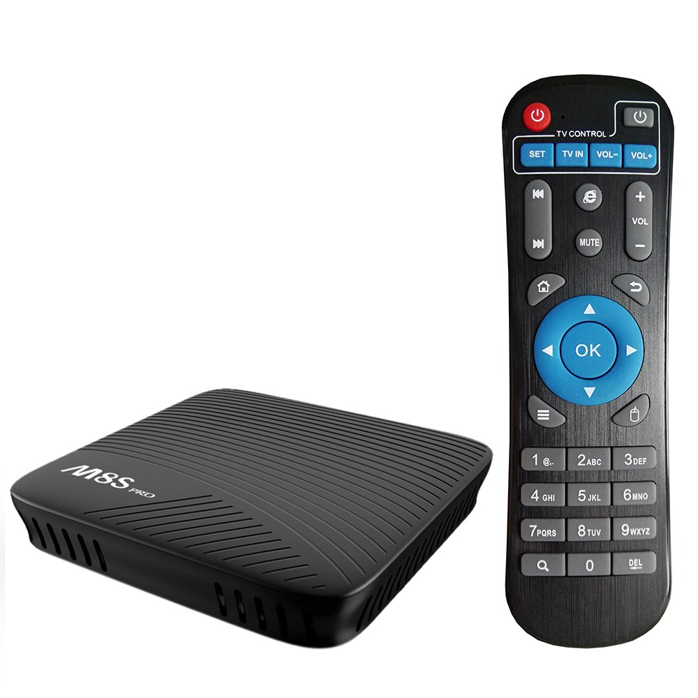 Walmeck Android TV Box,M8S PRO Smart,Android 7.1 Amlogic S912 Octa-core 64 Bit 3GB DDR4 32GB EMMC HDR10 VP9 H.265 UHD 4K Mini PC 2.4G & 5G WiFi LAN Airplay Miracast BT 4.1 HD Media Player US Plug