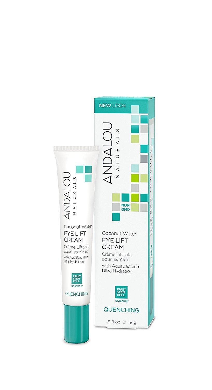 Andalou Naturals Coconut Water Eye Lift Cream, 0.6 Ounce Lightweight Anti-Aging Eye Cream