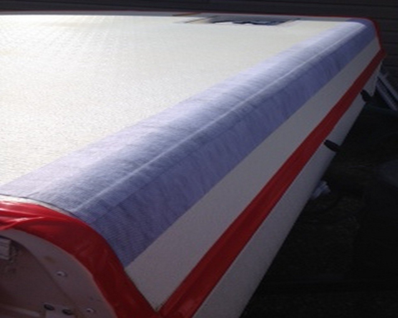 Liquid Rubber Seam Tape - Fix Leaks - For Repairs and Restoration - Easy to Use - Polyester Top to Accept Liquid Rubber Coatings - RV Roofs, Metal Roofs, Gutters... - TOP SELLER - 4'' x 50' Roll by Liquid Rubber USA (Image #4)