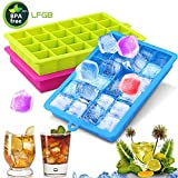 Ice cube trays 3Pack, 72 Silicone Ice Cube Molds with Removable Cover set for Whiskey, juice, Sport Drinks, LFGB Certified & BPA Free