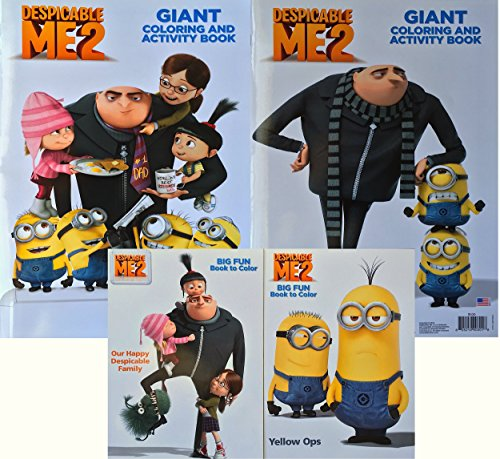 amazoncom despicable me 2 giant coloring and activity books with despicable me 2 big fun books to color 4 books in total the perfect arts and crafts - Despicable Me Coloring Book