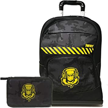Fortnite Raptor Schoolpack 2020-2021 - Mochila con ruedas organizada y estuche con 3 cremalleras: Amazon.es: Equipaje