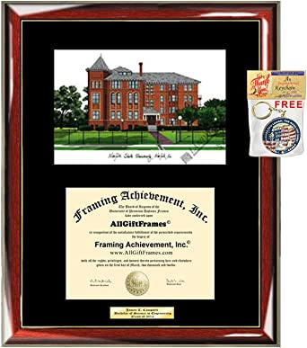 Amazon Com Norfolk State University Diploma Frame Lithograph Nsu Degree Framing Graduation Glossy Prestige Mahogany With Gold Accents Single Black Matted University Diploma Frame Clothing