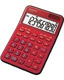 シャープ カラーデザイン電卓 10桁表示 レッド系 EL-M335-RX