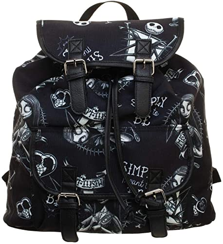 Disney Nightmare Before Christmas Jack and Sally Knapsack Backpack