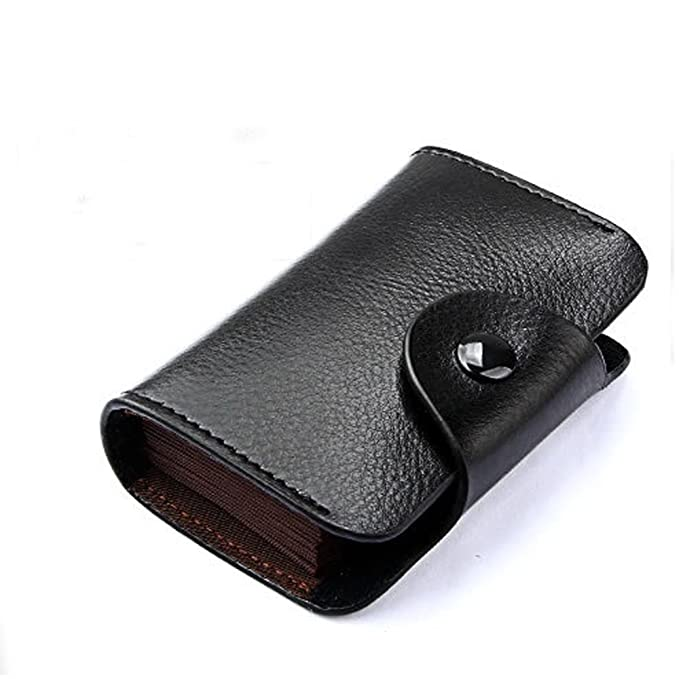 Genuine leather rfid blocking credit business card holder mini card genuine leather rfid blocking credit business card holder mini card wallet case book black reheart Images