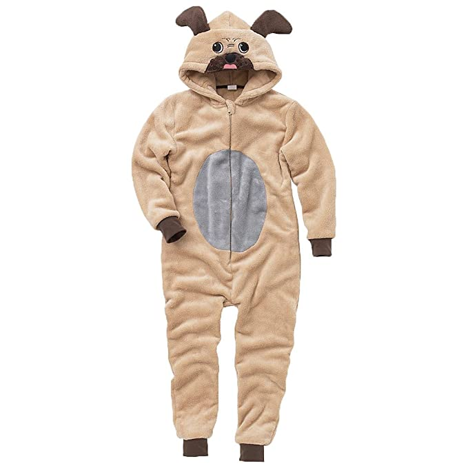 3bda183e6a7c Onesies Animal Crazy Childs Boys Girls Supersoft Pug Dog Jumpsuit Playsuit   Amazon.co.uk  Clothing