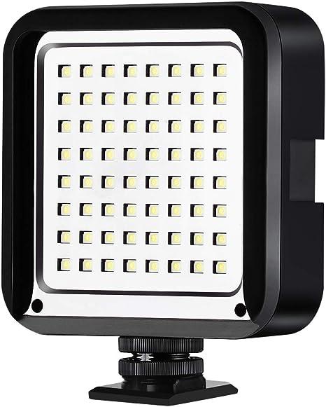 Cofunkool - Luz LED de vídeo portátil para cámara réflex Digital y ...