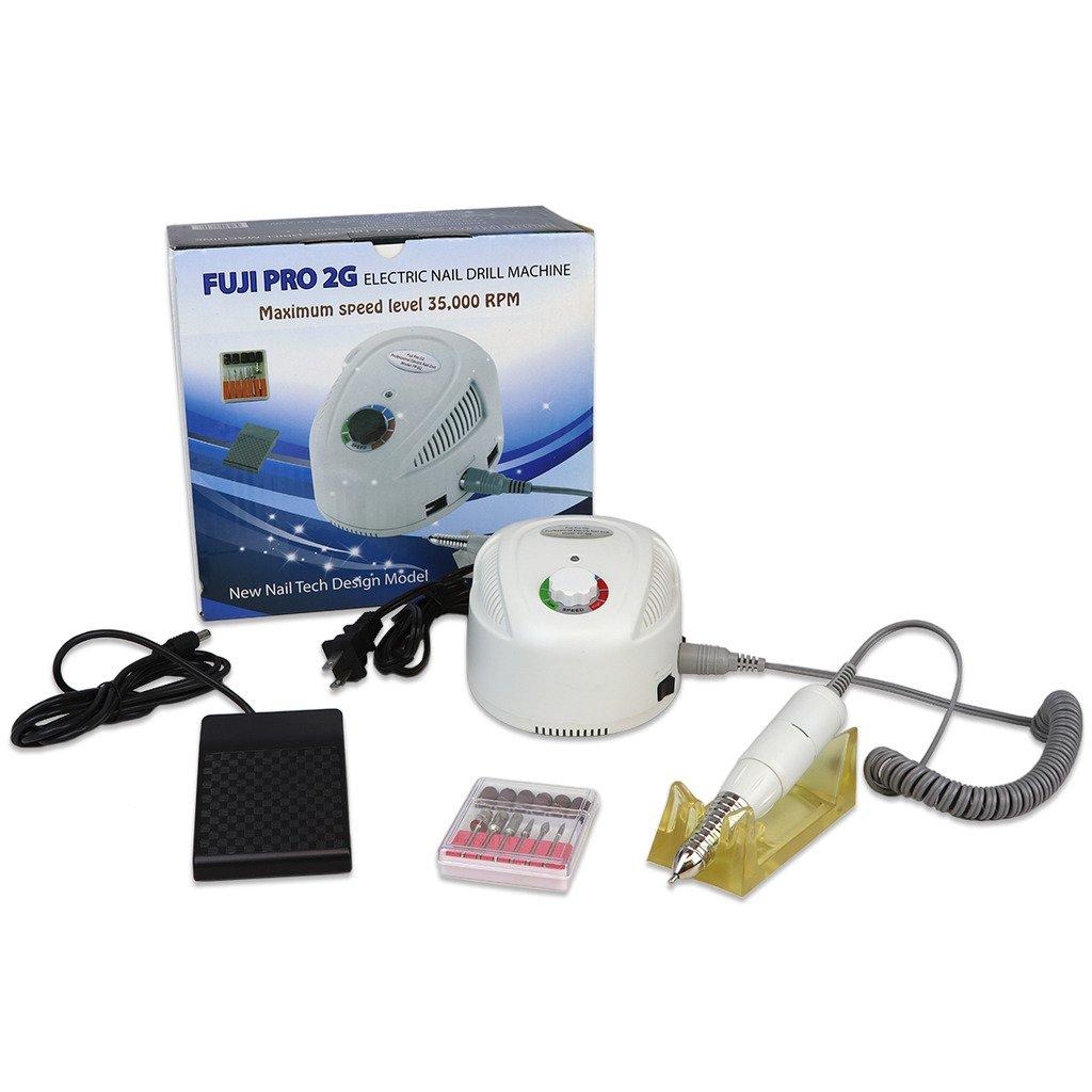 Amazon.com : Fuji Pro 2G Nail Drill System Kit35, 000 RPM (White ...