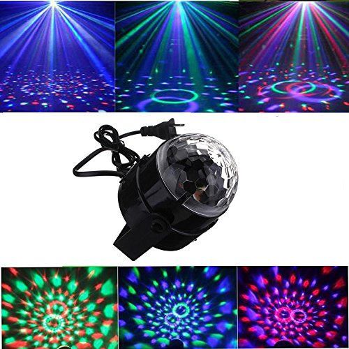 Disco Ball Stage Lighting ,Sound Activated Mini Party Lig...