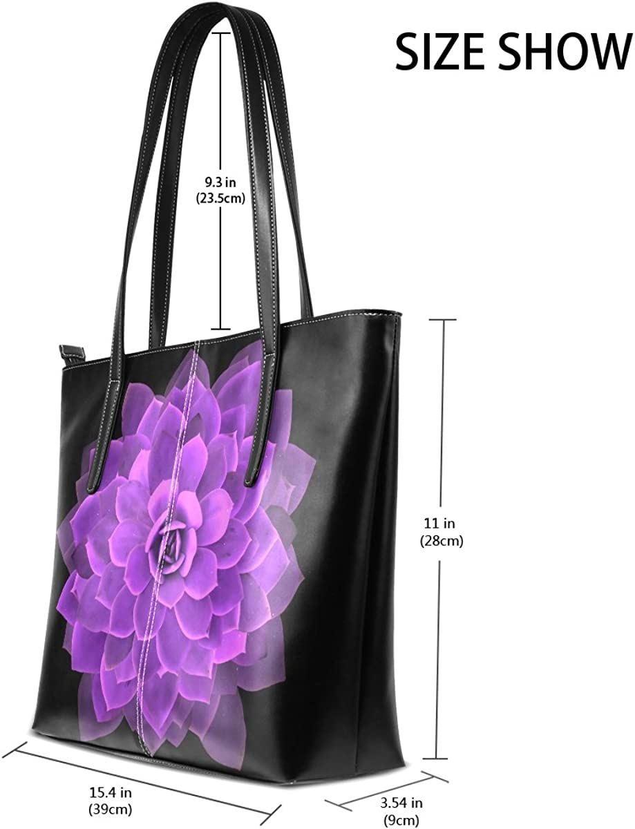Ethel Ernest Purple Mandala Womens Purse PU Leather Shoulder Tote Bag