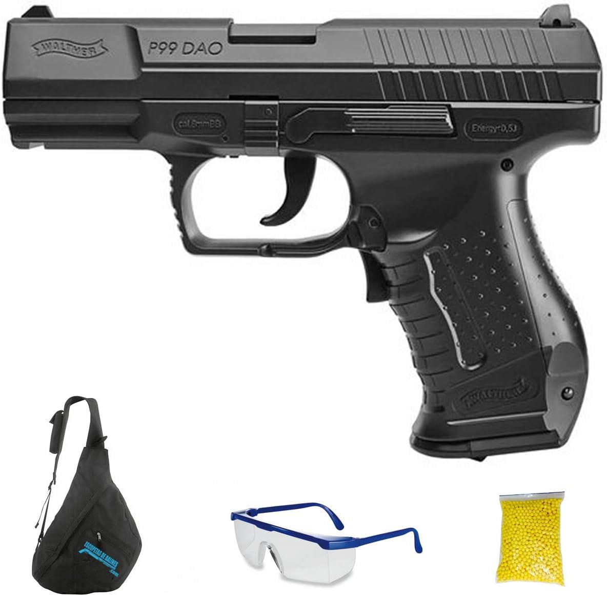 Walther P99 DAO M24 - Pistola de Airsoft Calibre 6mm (Arma Aire Suave de Bolas de plástico o PVC). Sistema: eléctrico <3,5J