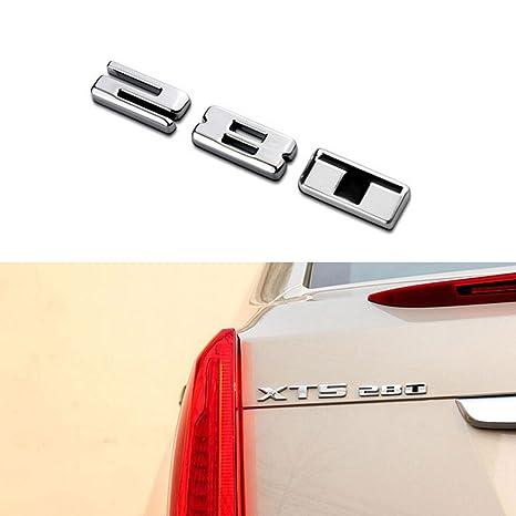 Metal Silver Cadillac Car Body Emblem Badge Sticker For CT6 XTS CTS ATSL SRX