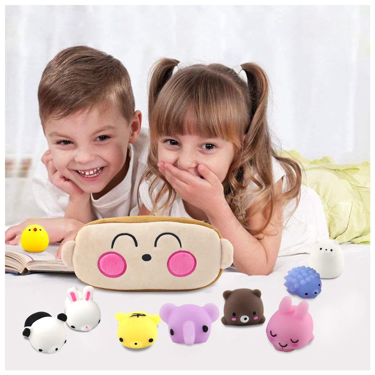20 St/ück Mochi kreat/ürlich Squishies Set Kawaii Party Geschenke f/ür Kinder mit Kawaii Monkey Tragetasche Anti-Stress Squeeze Spielzeug f/ür Jungen und M/ädchen Conthfut Squishy Spielzeug
