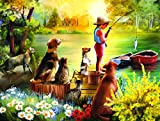 jigsaw puzzle fishing - Waiting for Dinner 300 Piece Jigsaw Puzzle by SunsOut - fishing theme