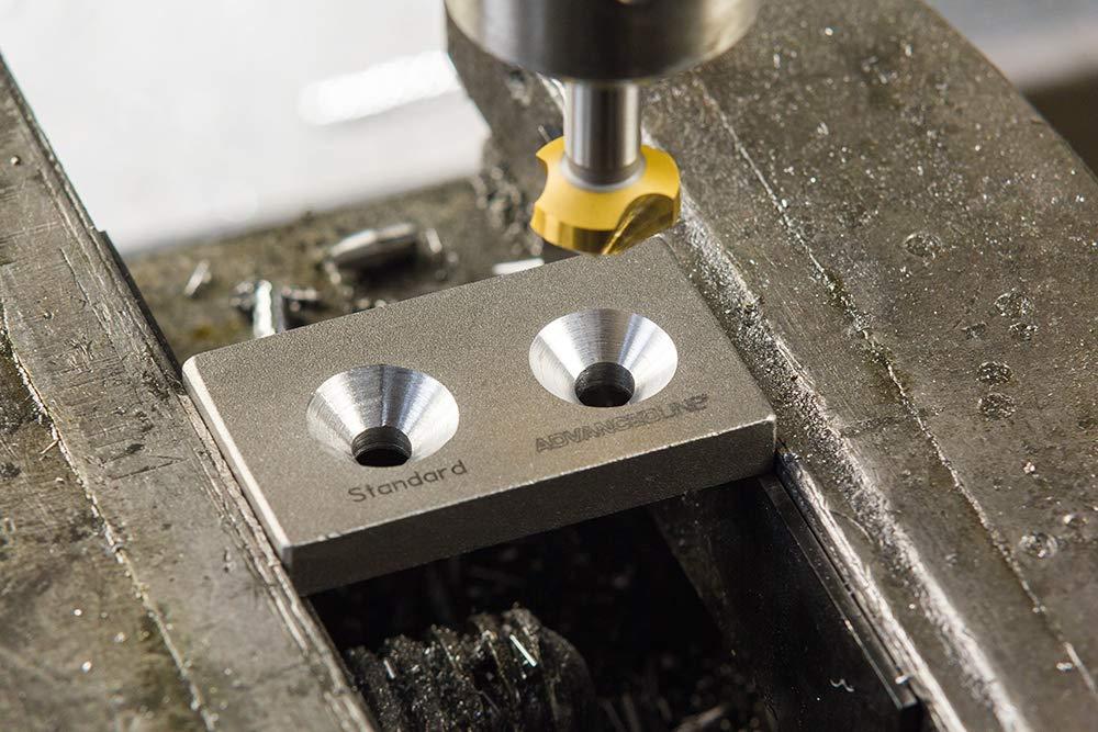 TiN-Beschichtung /Ø 6,3mm Exact Advancedline Kegelsenker 90/° HSS Rotastop-Schaft