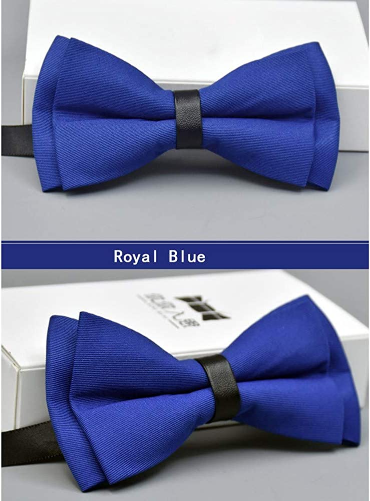 Transser Classic Solid Color Clip-on Adjustable Bow Tie for Mens Wedding Party Dress Necktie