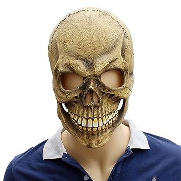 Morbuy Terror Máscara de Halloween, Adulto Látex Novedad Horror Espeluznante Cabeza Máscaras Cara Fiesta de
