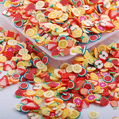 Peace Fruit - RoseFlower 10000 Pcs 3D Cute Designs Nail Art Canes Sticks Stickers Rods Fruit Pattern Slices Nail Art Stickers Perfect for DIY Crafts, Cellphone Decoration, Nail Art Decoration #1