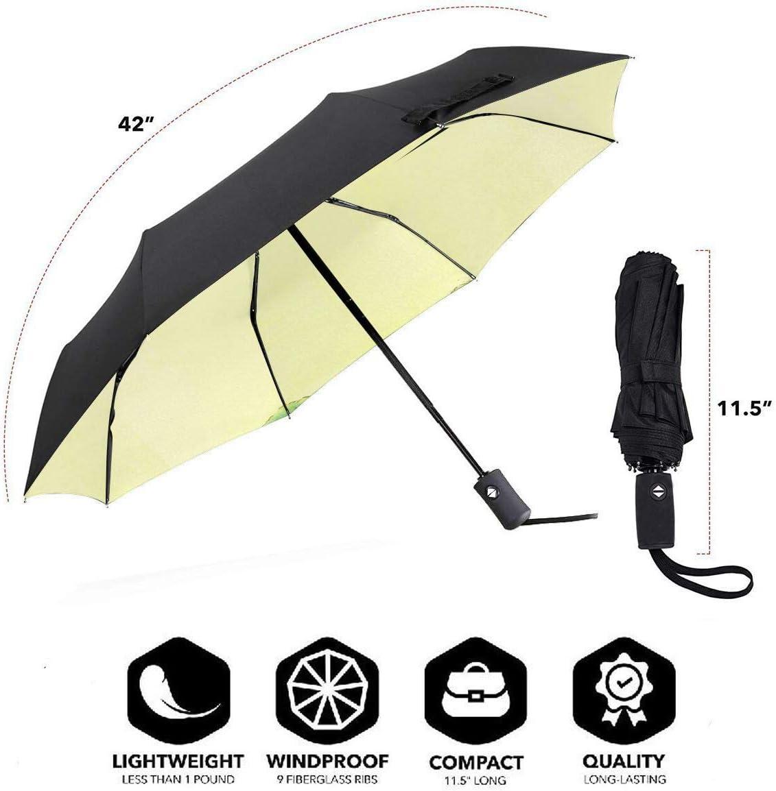 Windproof Travel Umbrella Winnie The Pooh Compact Folding Umbrella Automatic Open//Close
