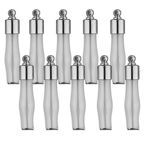 IPOTCH 10 Pedazos Colgantes de Mini Botellas de Vidrio de ...