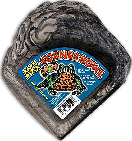 Zoo Med Reptile Rock Corner Water Dish, Small KB20