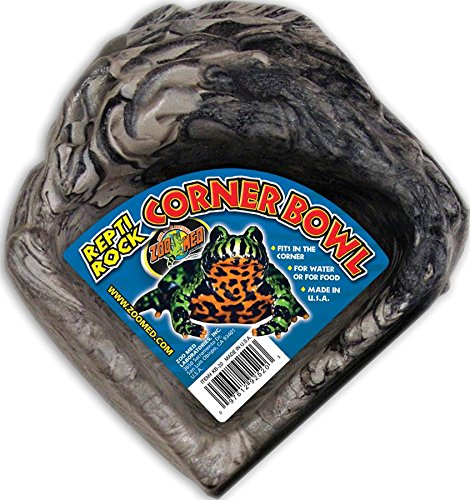 Zoo Med Reptile Rock Corner Water Dish, Small (Corner Med Zoo)
