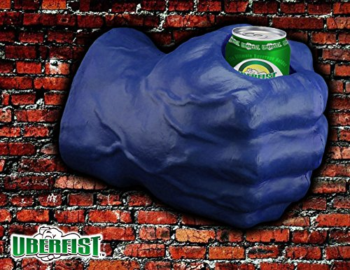 Uberfist Right Hand Hulk Foam Fist Drink Holder, -