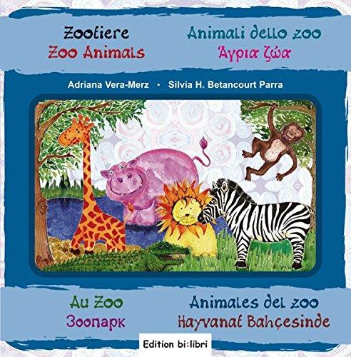 Zootiere: Kinderbuch in acht Sprachen