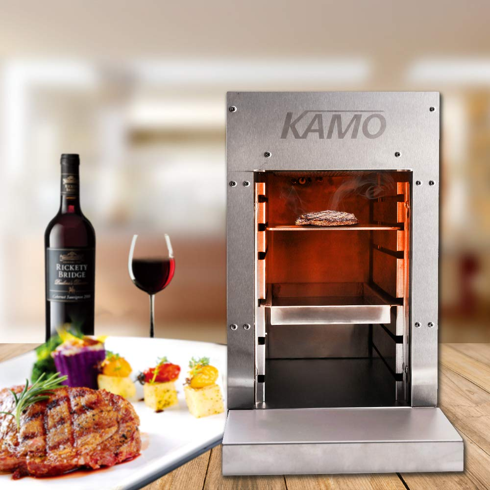 Zz Pro Commercial Infrared Steak Grill Broiler Propane Gas 1500℉ Smokeless Made of 100% Stainless Steel Perfect Steak Cooker Suitable for Businesses Industrial Kitchen by Zz Pro