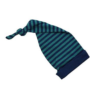 49c86ee40178a Amazon.com: Engel Hat Merino Wool Silk Baby Children boy Girl Organic  Bonnet Striped 72 5543 (Grey - Light Ocean/Eisvogel): Clothing