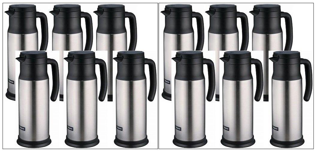 Zojirushi SH-MAE10 Stainless Vacuum Creamer/Dairy Server, Stainless, 12 PACK
