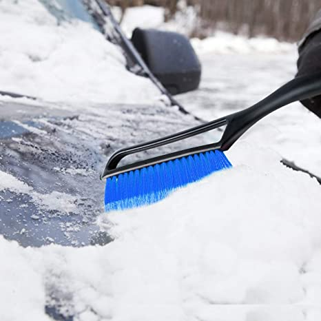 "27/"" Snow Brush with Ergonomic Foam Grip for Cars Winter Snow Removal AstroAI Detachable Deluxe Ice Scraper Bundle"