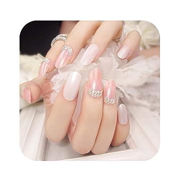 Amazon.com: uñas postizas de color rosa para niñas, uñas ...