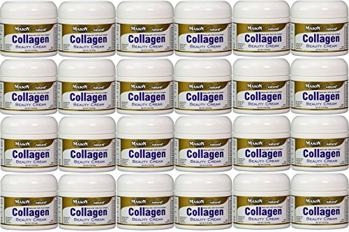 Collagen Beauty Cream Made with 100 Pure Collagen Promotes Tight Skin Enhances Skin Firmness 2 OZ. Jar PACK of 24