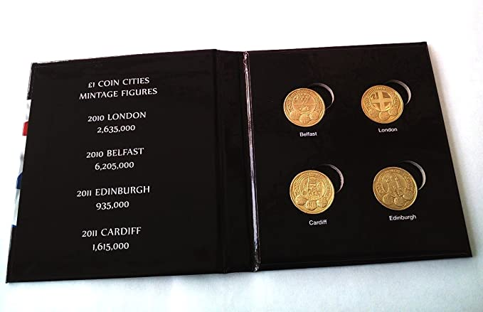 Capital Holder For 8 US Proof Sets Of 5 Coins Black Display Case Collector Gift