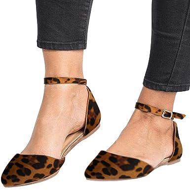 5547fd534a1de Amazon.com: Amlaiworld Women Sandals Shoes Summer Flat Shoes Leopard ...