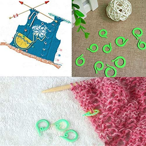 - Crochet Locking Stitch Markers - 20 Pcs 10s 10l Size Plastic Knitting Crochet Locking Stitch Markers Latch - Markers Stitch Crochet LockingAccessory Cross Stitch Knit Needl Needlew