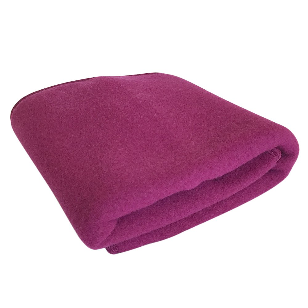 EcoAble Apparel Warm Baby Blanket, 100% Organic Merino Wool Fleece, 40 x 31.5 inches 40 x 31.5 inches (Berry) Engel