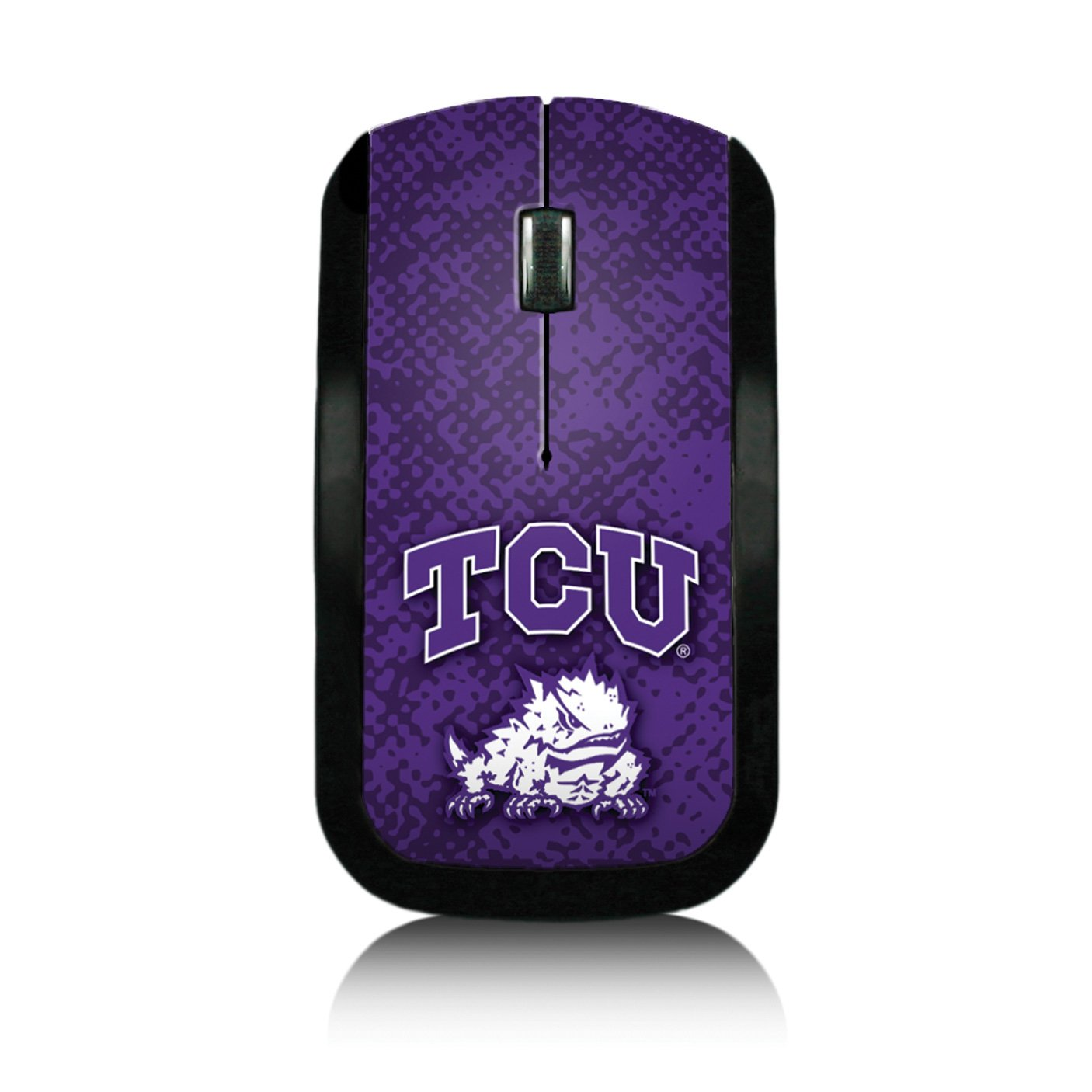 Texas Christian Horned Frogs Wireless USB Mouse officially licensed by Texas Christian University Slim Sleek Low-Profile Portable by keyscaper®