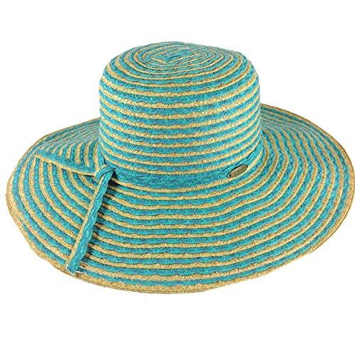 Cappelli Straworld Wide Brim Straw Sun Hat with UPF 50+ S...