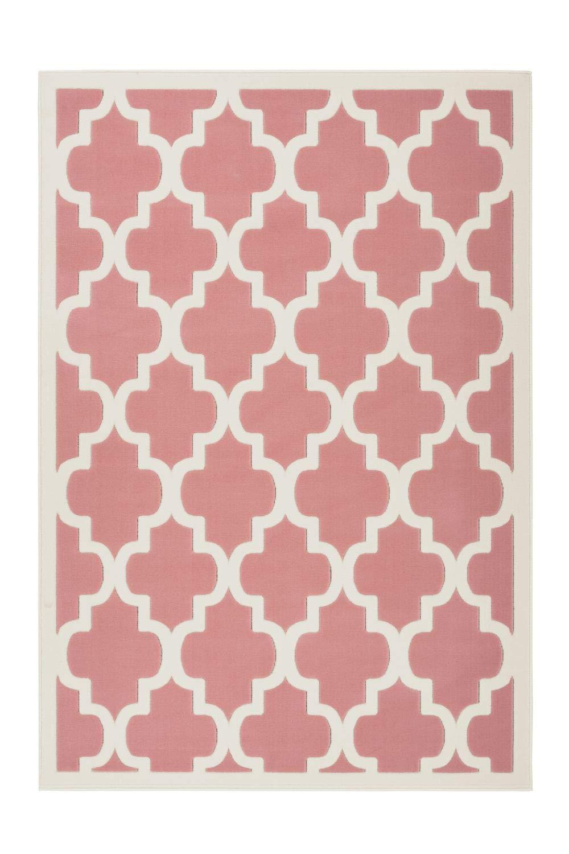 One Couture Rosa Teppich Creme Pastell Marrok Oriantal Muster Maroc Design Modern Wohnzimmer, Größe:200cm x 290cm