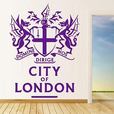 guijiumai City of London Wall Sticker Badge Animals Tatuajes de ...