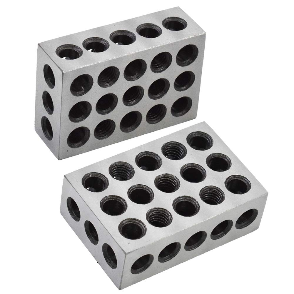 """5 MATCHED PAIRS ULTRA PRECISION 1-2-3 BLOCKS 23 HOLES .0002/"""" MACHINIST 123 New"""