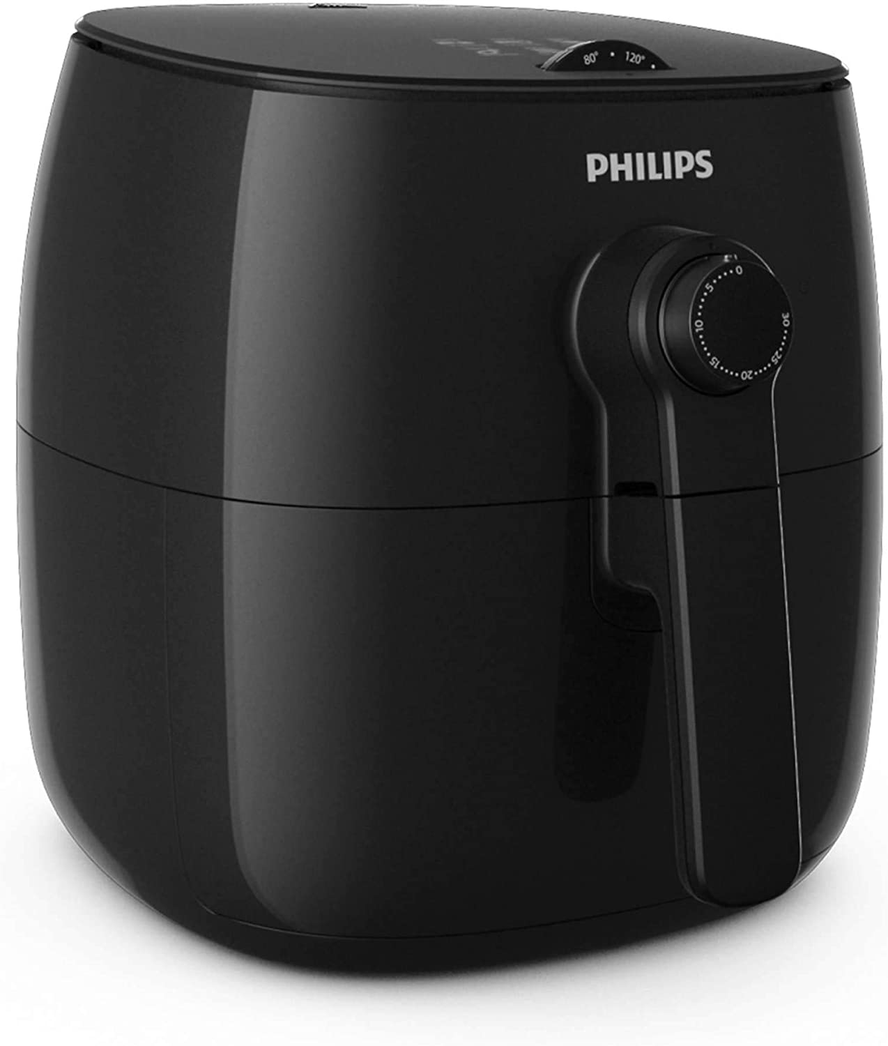 Philips Viva Turbostar Airfryer (1.8lb/2.75qt), Black - HD9628/96 (Includes Grill Pan and Baking Dish)